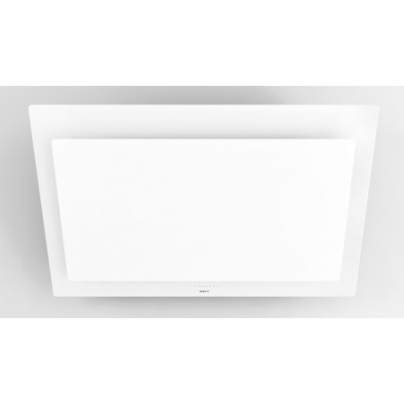 7839  NOVY Hotte murale vision 90cm verre blanc recyclage